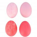 Chicken egg natural matt, H6cm, 4 colors, pink mat
